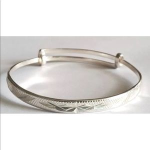 Jewelry - Anti Tarnish 925 Sterling Baby Adjustable Bangle